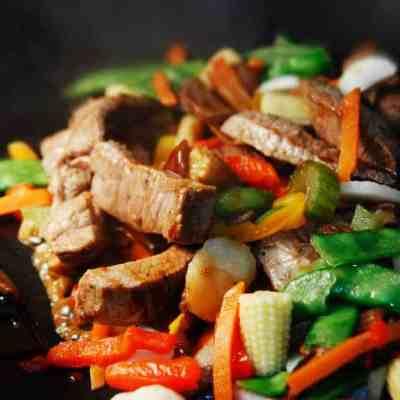 Beef & green bean stir fry dinner for tonight