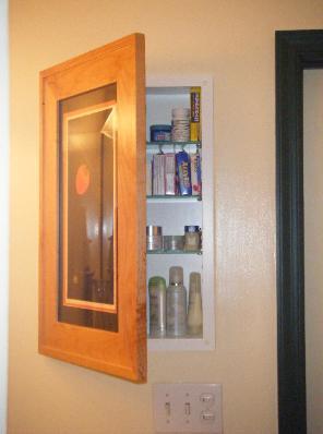 Concealed Bathroom Cabinet Behind Picture Frame Door