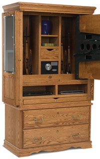 Secret Gun Compartment in TV Cabinet | StashVault