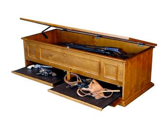 Secret Compartment Gun Storage Table Stashvault