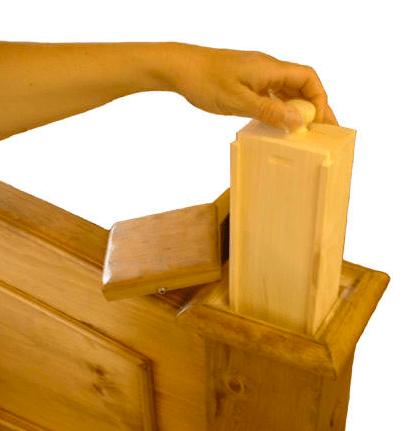 Secret Compartment Furniture  Bedpost Stash  StashVault