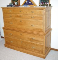 Dresser with Concealed Gun Rack