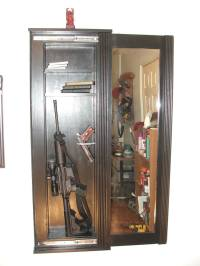Secret Gun Cabinet Behind Mirror | StashVault
