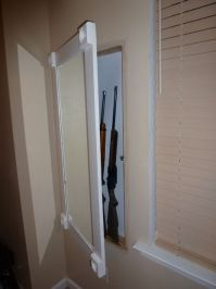 Secret Gun Storage Behind Mirror | StashVault