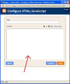 Blogger - HTML/Javascript Gadget