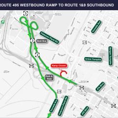 Nj Straight Line Diagram Combination Drain And Vent Route 495 1 And9 Paterson Plank Road Bridge