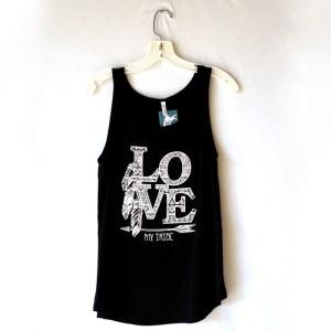 Love My Tribe Tank Top, Tribal Print Shirt