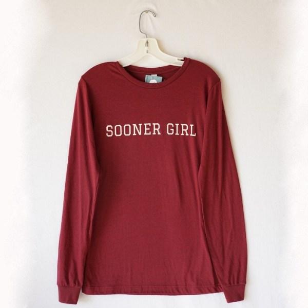 Oklahoma Sooner Girl Long Sleeve T-Shirt