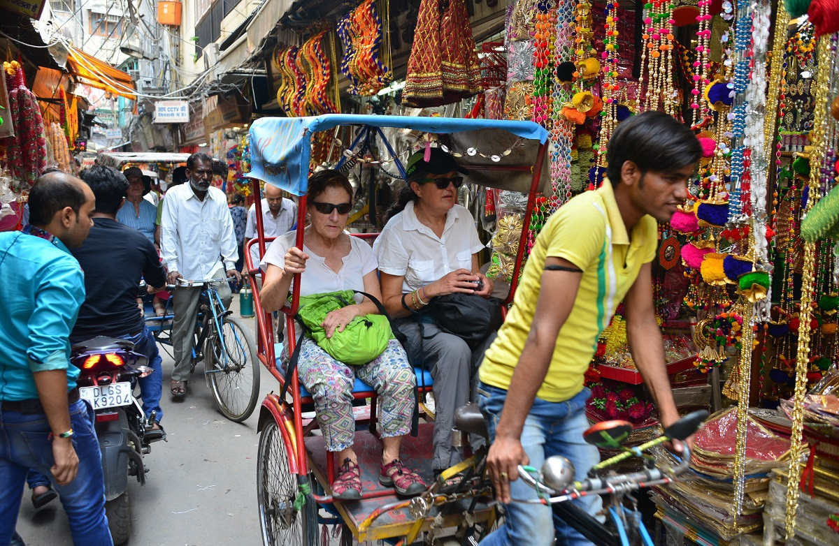 Rickshaw Tour in Delhi during Golden Triangle Tour