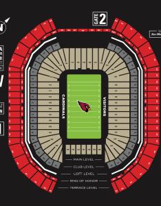 View seating chart also ers vs cardinals state farm stadium rh statefarmstadium