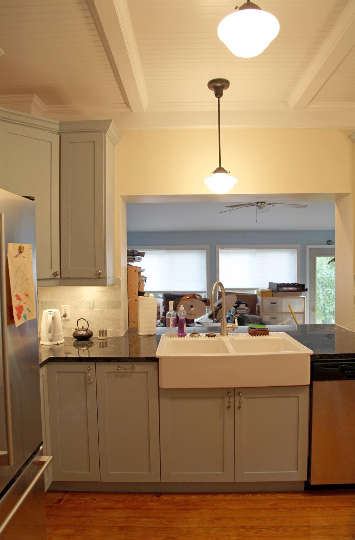 brick kitchen backsplash undermount sinks at lowes -andi and neil's | stately kitsch