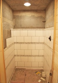 Large Tile Shower | Joy Studio Design Gallery - Best Design