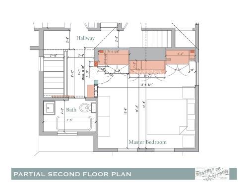 small resolution of second floor hallway update shifted bedroom door electrical conduit