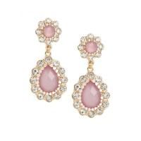 Lavender Crystal TearDrop Earrings