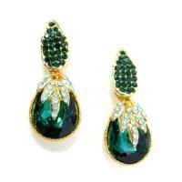 Emerald Iced Teardrop Earrings