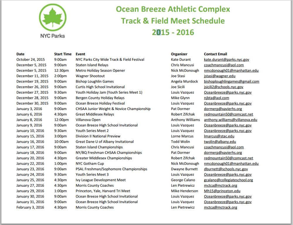 ocean breeze track meet schedule