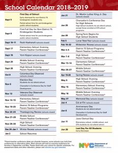 New York City Public School Calendar 2019 school_calendar_2018 2019   Staten Island NYC Living