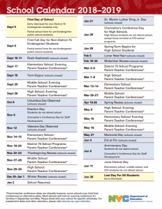 Nyc Public Schools Calendar 2019 New Yorkers can check out the DOE's official 2018–19 NYC School