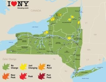 Fall Foliage Map Week 0-2018