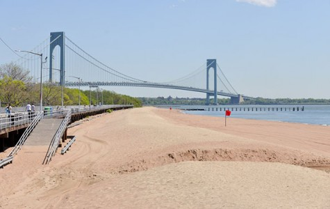 view of South Beach and the Verrazano Narrows Bridge