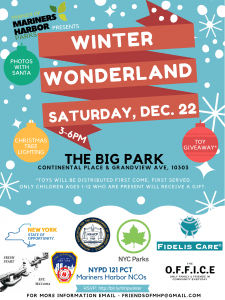 Winter Wonderland Event at The Big Park on Saturday, December 22, 2018