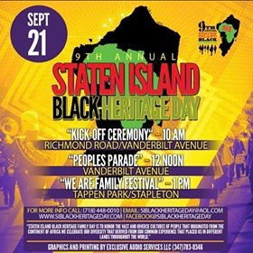 9TH Annual Staten Island Black Heritage Parade/ Family Day