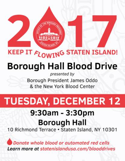 Borough Presidents Blood Drive 2017