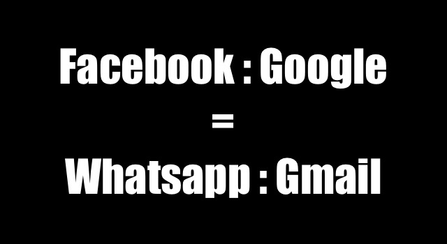 The Facebook Whatsapp equation