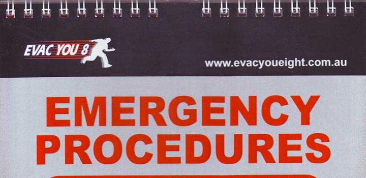 Emergency procedures flip chart also state one fire protection  security rh stateonefire
