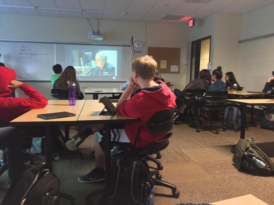 students+intently+watch+a+video+regarding+false+confessions.+The+E-Board+prepares+presentations+with+videos+relevant+to+the+topic+of+meetings.