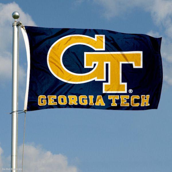 Georgia Tech Banner Flag GT Double Sided eBay
