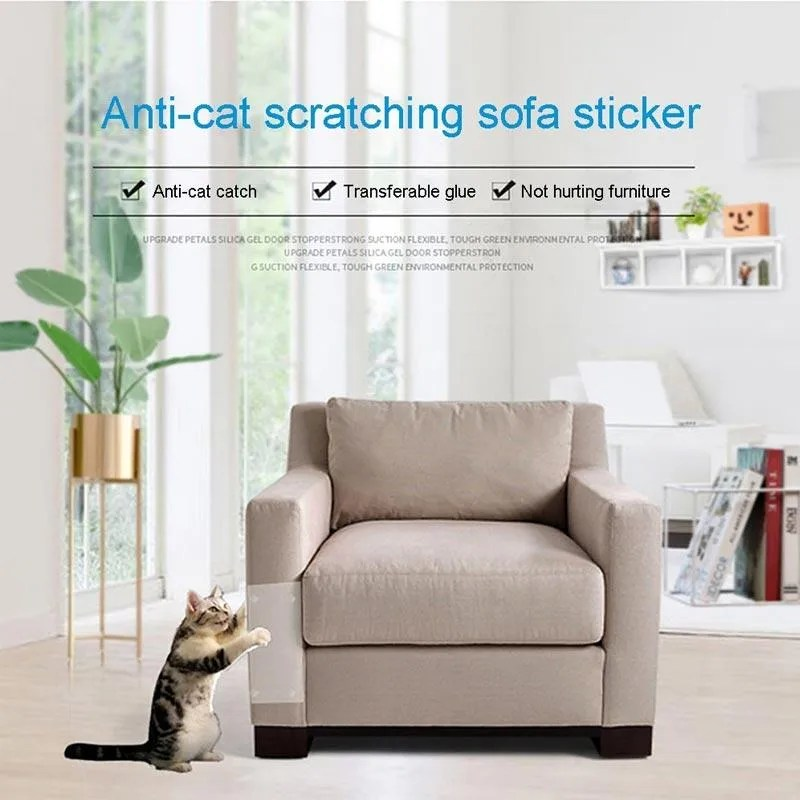 h ikea anti scratch tape furniture protector for cats couch protector clear double sided for sofa leather chair 1 pc