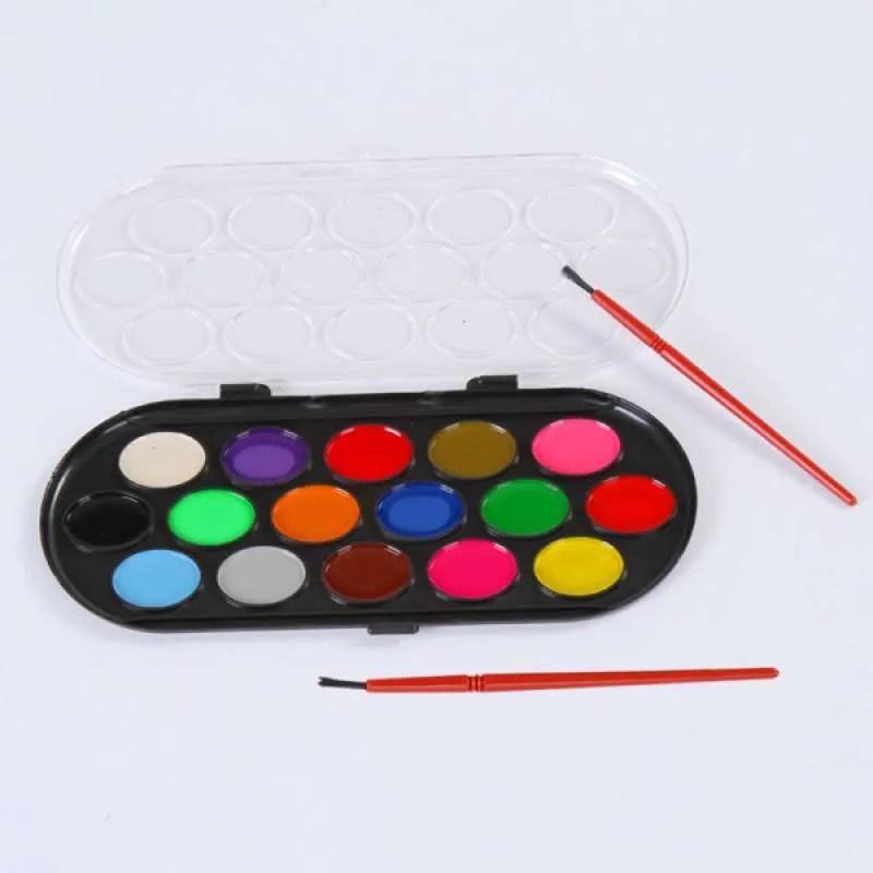 Jual Oem Watercolor Palette Brush Set Painting Tray Craft Drawing Art Mini Kid Gift 12 Pcs Online September 2020 Blibli Com