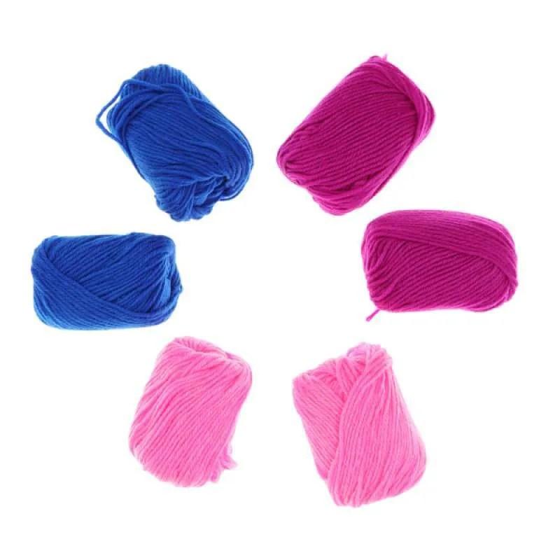 Jual 6pcs Woolen Yarn For Knitting Machine Diy Craft Weaver Role Pretend Play Toy Online September 2020 Blibli Com