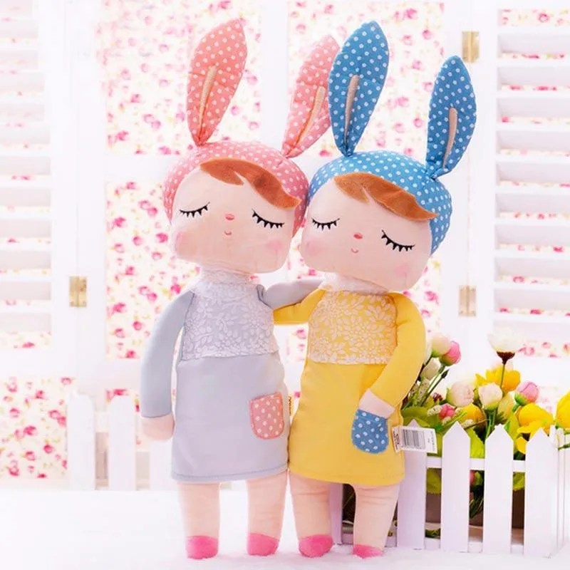 Jual Eds 4 Animals Cartoon Angela Rabbit Girl Metoo Doll Plush Toys Yellow Online September 2020 Blibli Com
