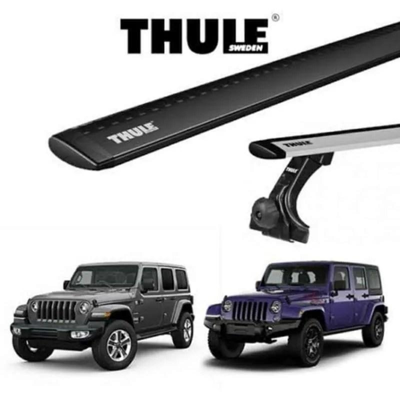 thule roof rack wing bar evo jimny 2018 jeep wrangler jk jl cross bar