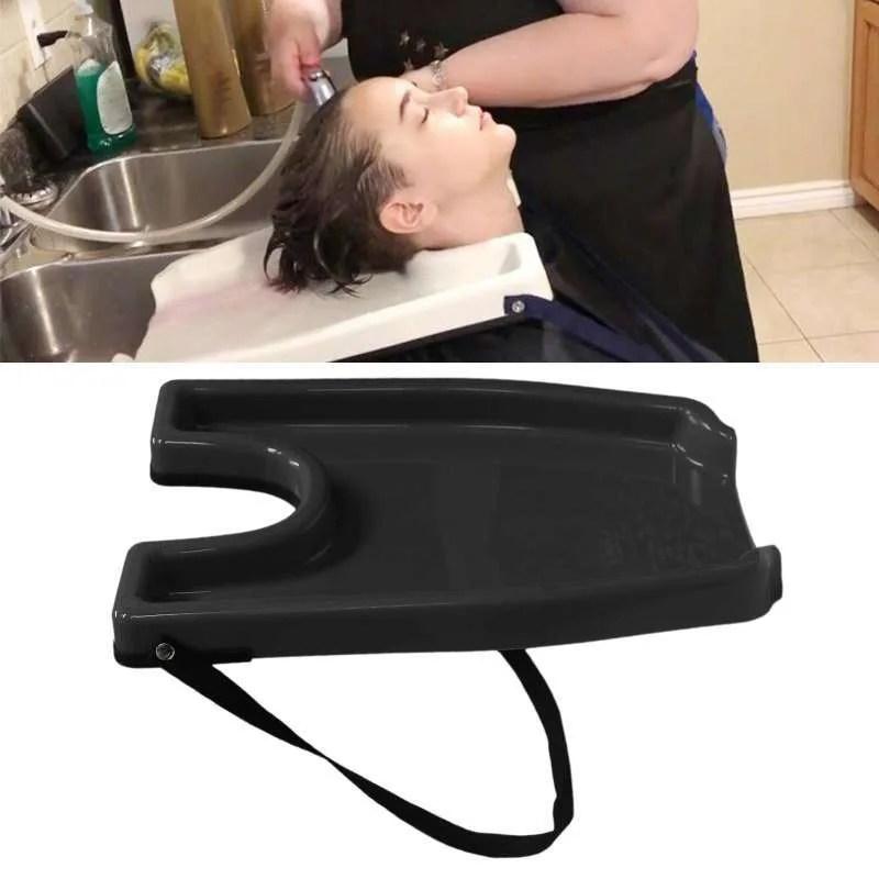 portable hair shampoo backwash washing tray sink basin for home black