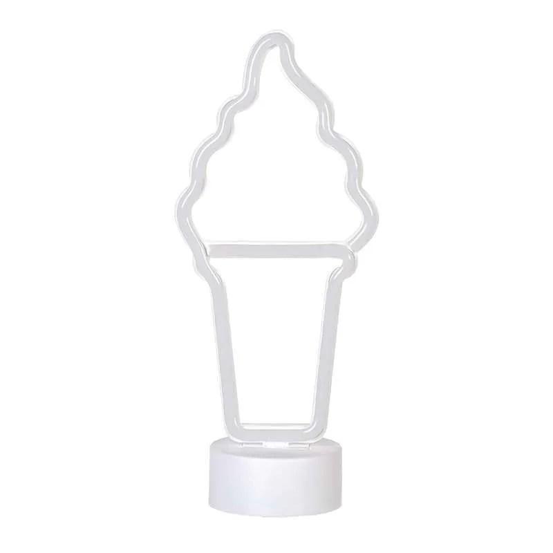 Jual Popsicle Icecream Shaped Neon Signs Led Lights Decorative Night Light With Base For Room Wall Kids Bedroom Birthday Halloween Christmas Terbaru Juli 2021 Blibli