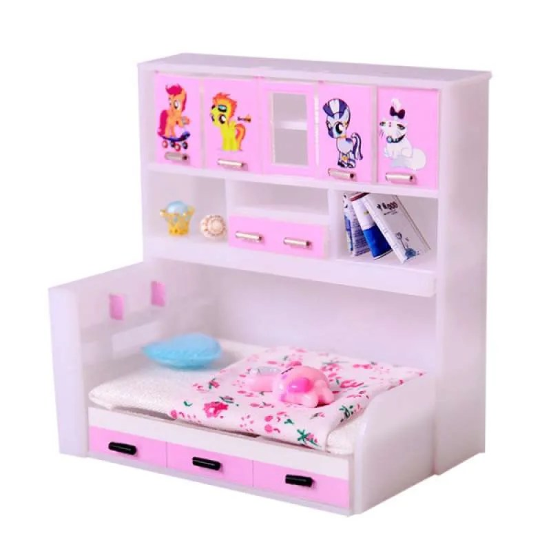 Jual Oem Abs Miniature Cabinet Bed Model For 1 12 Dolls House Kids Bedroom Furniture Online September 2020 Blibli Com