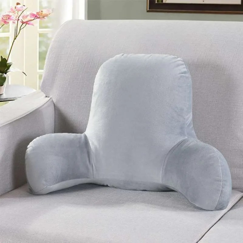 big backrest reading bed rest pillow with arms plush memory foam fill