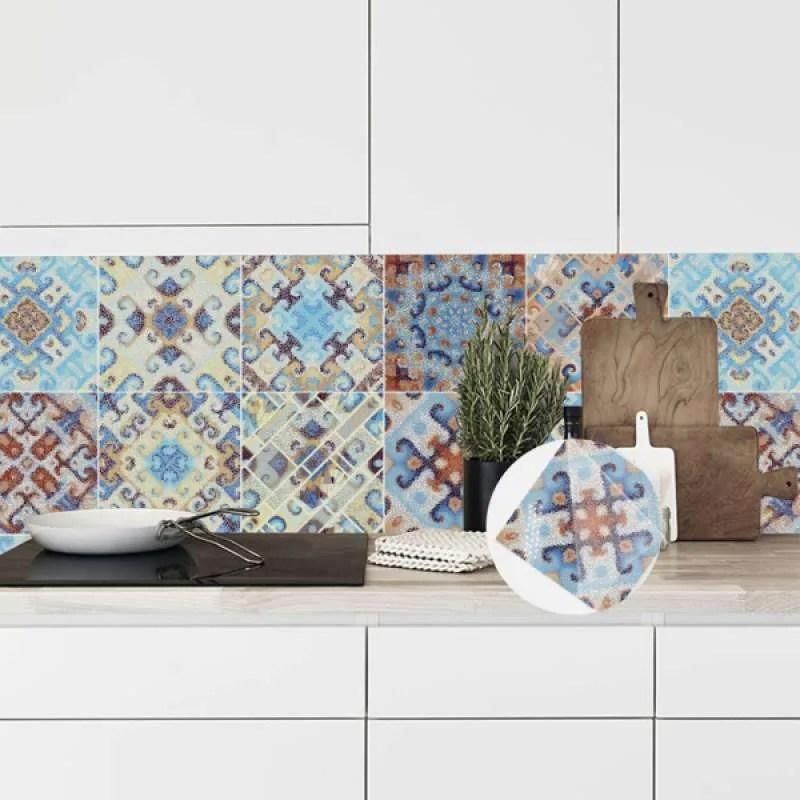 Jual 10pcs Tile Stickers For Bathroom And Kitchen Backsplash Decoration 6x6inch Online November 2020 Blibli Com