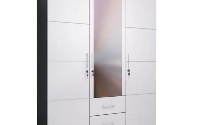 Jual Ben Furniture Lemari Pakaian White 3 Pintu Online