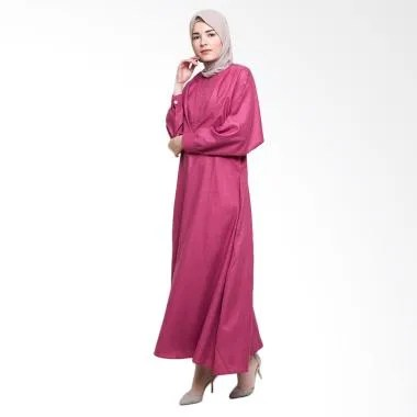 Allev Ramiza Dress Muslim - Merah