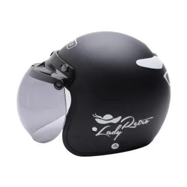 WTO Helmet Lady Retro Bogo - Hitam Doff