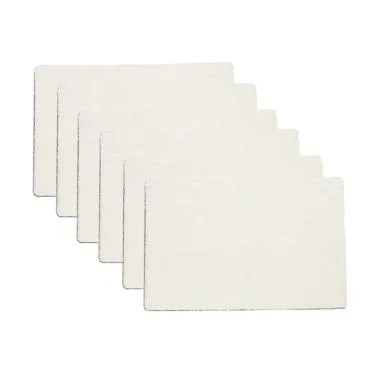 ENJOY101 Machine Washable Non Slip  ...  Mats - White [Pack of 6]