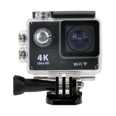 T4Shops 4K Ultra-HD Wifi Action Camera - Black