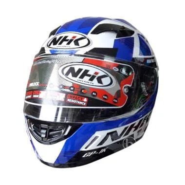NHK GP 1000 Ultra Xvision Helm Full Face - White Blue