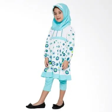 4 You Sweet Flower Moslem Long Dress - Tosca