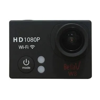 Bella Vision W8 Edition Action Cam - Black [Full HD/1080P/WiFi]
