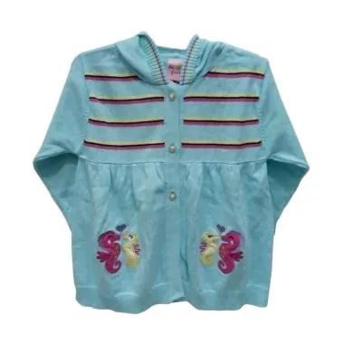 Mini Pink Jaket Bayi Perempuan - Biru